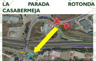 Anulación definitiva de la parada Gasolinera Casabermeja a partir del 8 de junio