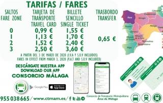 Nuevas tarifas en los títulos del Consorcio de Transporte a partir del 3 de marzo de 2020