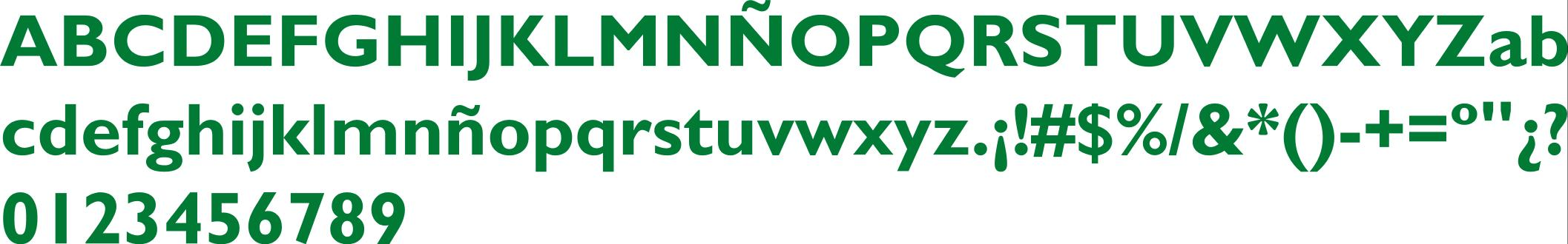 Tipografía Negrita