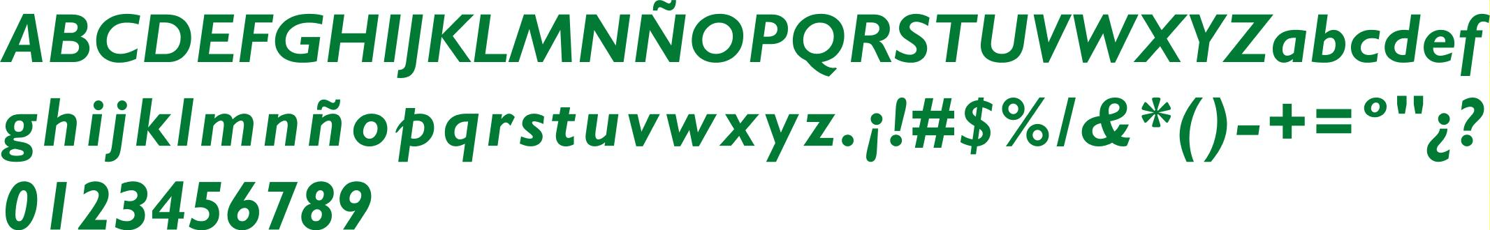 Tipografía Negrita Itálica
