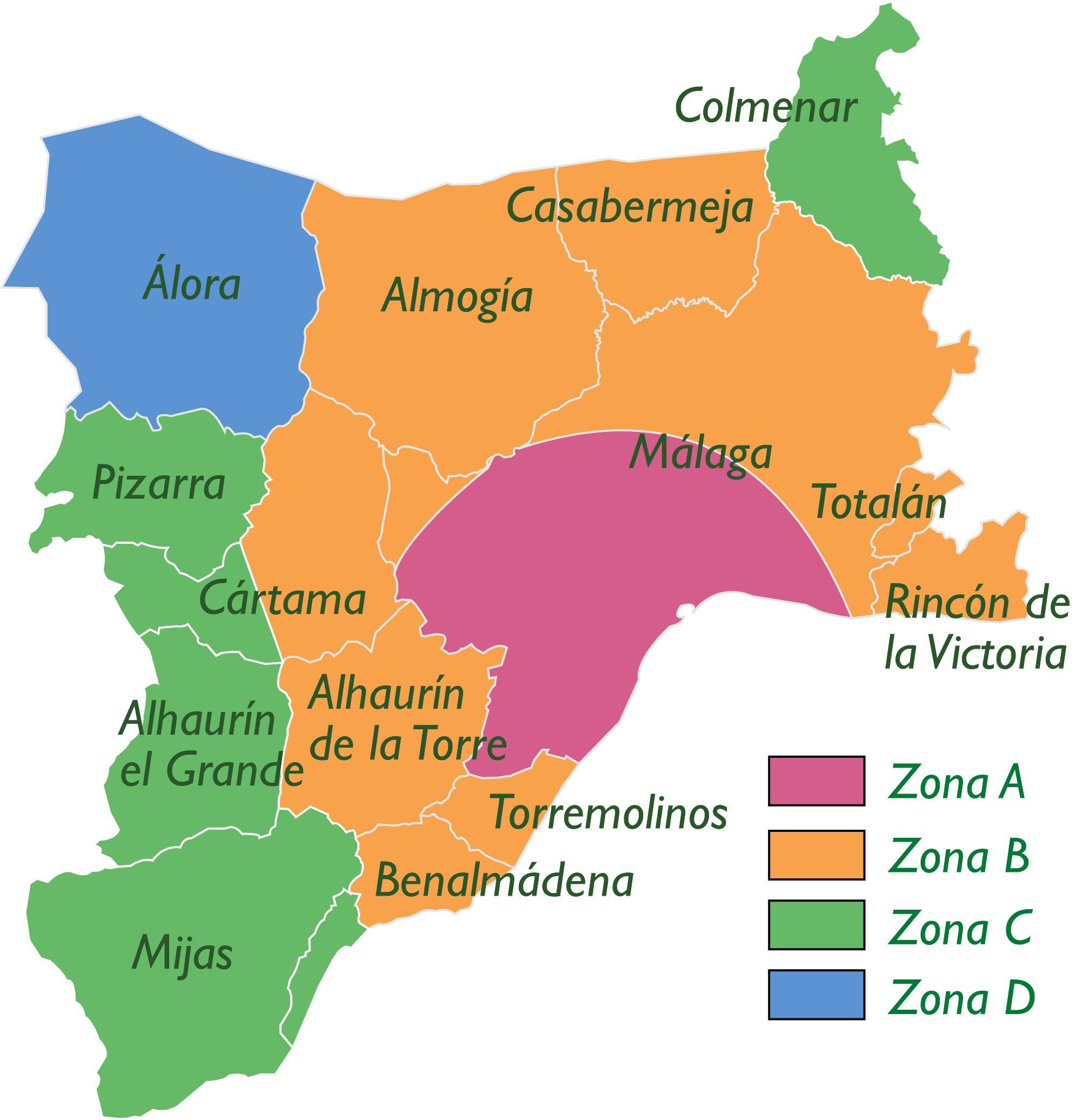 Mapa de zonificación