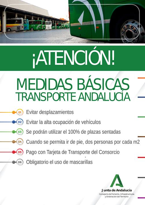 Medidas básicas Transporte Andalucía